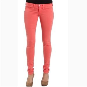 Flying Monkey coral skinny jeans